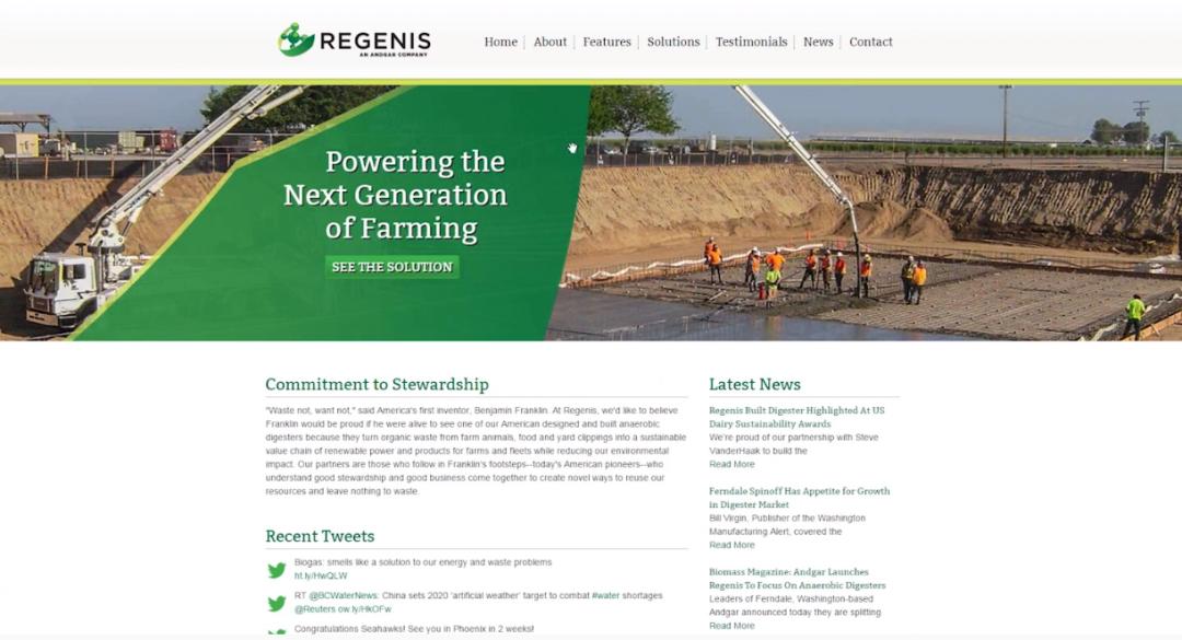 Regenis Website