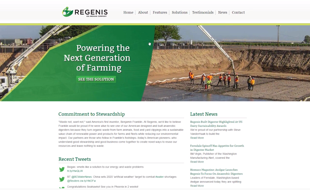 Regenis Website